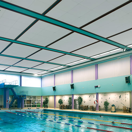Paroc acoustics in Arena Skövde pool area