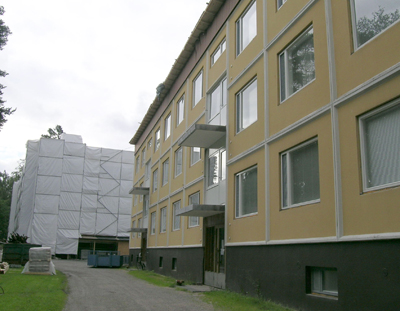 Façade renovation with PAROC stone wool additional insulation