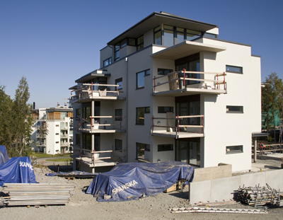In the housing area Stadsskogen in Alingsås 1 000 new flats have been build with passive house technique