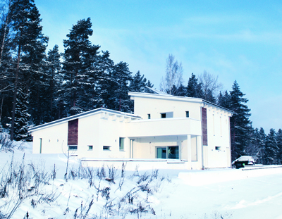 Passive house Granbäck with PAROC stone wool