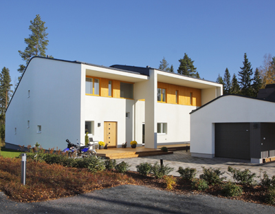 Ached forms are characteristic for Passive House Paroc Lupaus