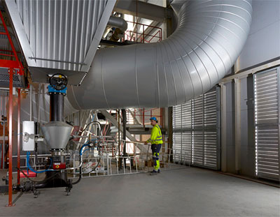 Heating plant in Skövde insulated with Paroc Technical insulation