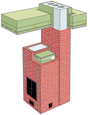 Fire protection chimney
