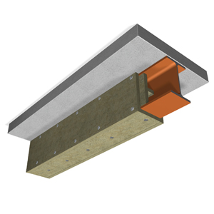 Fire safe insulation, steel construction 1