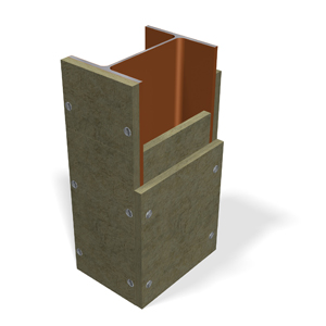 Fire safe insulation, steel construction 2