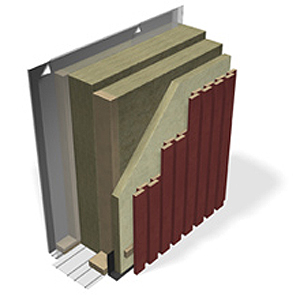 Ventilated timber frame wall, passive house